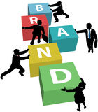 Business people build company brand Royalty Free Stock Image