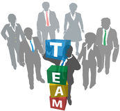 Business people build company team Royalty Free Stock Image