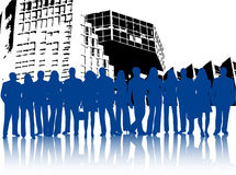 Business people and building Royalty Free Stock Photo