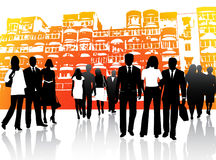 Business people and buildings Royalty Free Stock Image