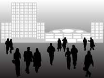 Business people and buildings Royalty Free Stock Photography