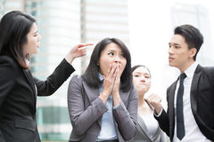Business people bullying Stock Images