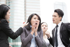 Business people bullying Royalty Free Stock Photos