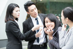 Business people bullying Stock Photography