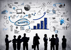 Business People with Business Concepts. Royalty Free Stock Images