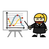Business people and  business graph cartoon. Stock Images