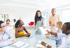 Business People on Business Training Royalty Free Stock Image
