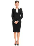 Business people - business woman standing Royalty Free Stock Photo