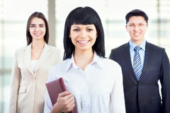 Business people with businesswoman leader Stock Photography