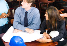 Business people in cafe Stock Photography