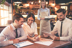 Business people in cafe Stock Photo