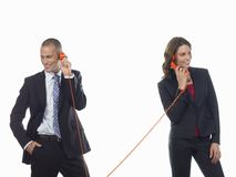 Business People On Calls Royalty Free Stock Photography