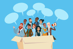 Business People Candidate In Box  Group Businesspeople Human Resources Crowd Stock Photo