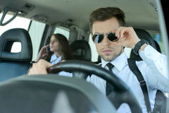 Business People In The Car Royalty Free Stock Photography