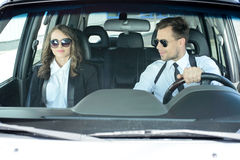 Business People In The Car Stock Image