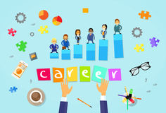 Business People Career Concept Cartoon Stock Image
