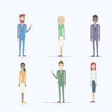 Business People Cartoon Character Set Full Length Stock Image