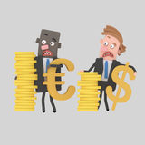 Business people  with cash money. Easy combine! 4000 x 4000 / 300 dpi / Isolate. Custom 3d illustration Stock Images