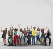 Business People Casual Cheerful Successful Friendship Concept Royalty Free Stock Photography