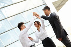 Business People Celebrate successful project. Team Work Royalty Free Stock Image