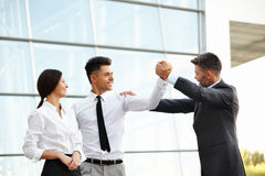 Business People Celebrate successful project. Team Work Royalty Free Stock Images