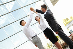 Business People Celebrate successful project. Team Work Stock Photo