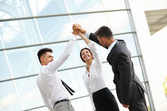 Free Business People Celebrate Successful Project. Team Work Stock Photo - 61020230