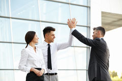 Business People Celebrate successful project. Team Work Royalty Free Stock Photography