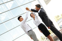 Business People Celebrate successful project. Team Work Stock Photos