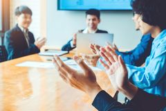 Business people Celebrating achievements meeting business Teamwork stock images