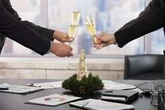 Business people celebrating Christmas Royalty Free Stock Photography
