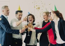 2018 New Year office party Stock Photography