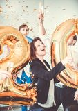 2018 New Year office party Royalty Free Stock Photos