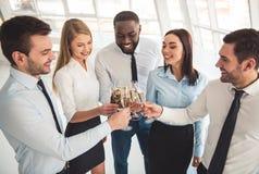 Business people celebrating Stock Photo