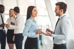 Business people celebrating Stock Photography