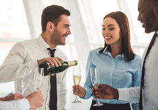 Business people celebrating Stock Image