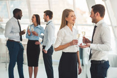 Business people celebrating Stock Images