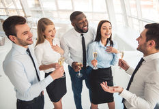 Business people celebrating Stock Photos