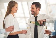 Business people celebrating Royalty Free Stock Photo