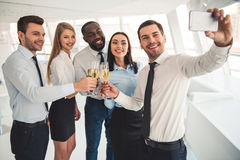 Business people celebrating Royalty Free Stock Photo