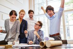 Business people celebrating their success royalty free stock photos