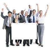 Business People Celebration Happiness Banner Copy Space Concept Stock Images