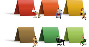Business people on chair Royalty Free Stock Image