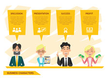Business people characters vector design set 3 Stock Photography