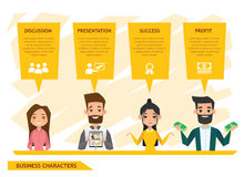 Business people characters vector design set 4 Stock Photos