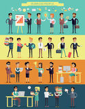 Business People Characters Vector Set Royalty Free Stock Photos
