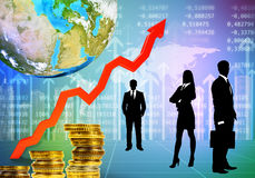 Business people with charts and graphs Royalty Free Stock Photo
