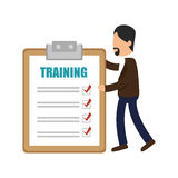 Business people with checklist training icon Stock Photography