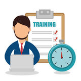 Business people with checklist training icon Stock Images