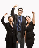 Business people cheering Royalty Free Stock Photo